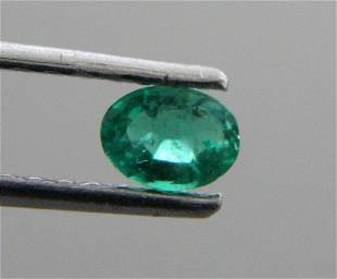 5x3mm OVAL CUT LOOSE NATURAL GREEN COLOMBIAN EMERALD