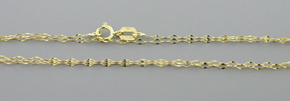 """NEW 14K YELLOW GOLD CABLE CHAIN, 18"""" NECKLACE ITALY"""