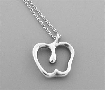 TIFFANY & Co. STERLING SILVER APPLE PENDANT NECKLACE