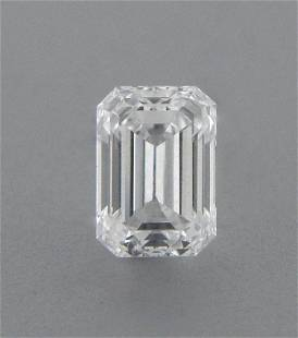 0.25ct EMERALD CUT LOOSE NATURAL DIAMOND F VVS1