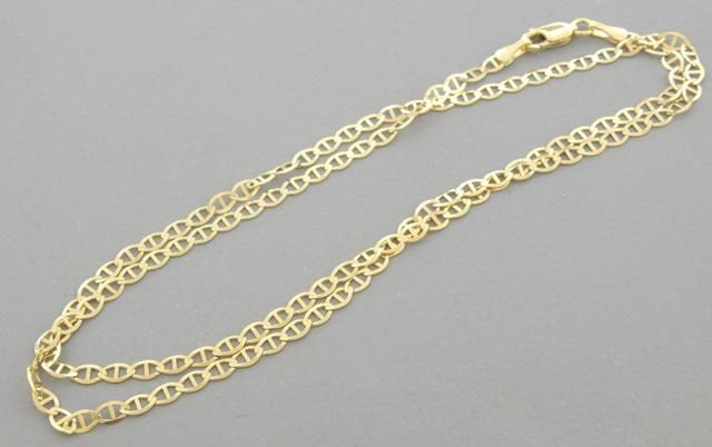 """14K YELLOW GOLD MARINER LINK NECKLACE - 3mm - 20"""""""