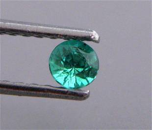 3.2mm ROUND CUT NATURAL COLOMBIAN EMERALD