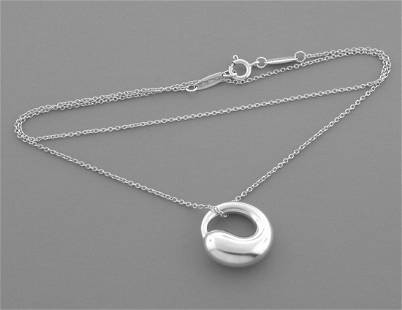 TIFFANY & CO. STERLING SILVER ETERNAL CIRCLE NECKLACE