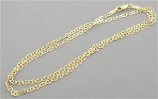 """14K YELLOW GOLD MARINER LINK NECKLACE - 3mm - 24"""""""
