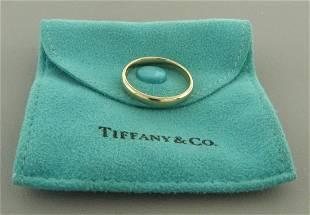 TIFFANY & CO. 18K ROSE GOLD 3mm WEDDING BAND RING