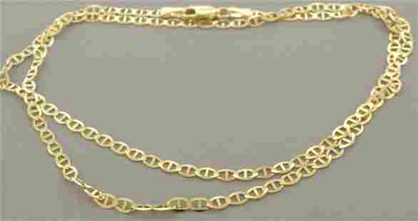 """14K YELLOW GOLD MARINER LINK NECKLACE - 4mm - 26"""""""