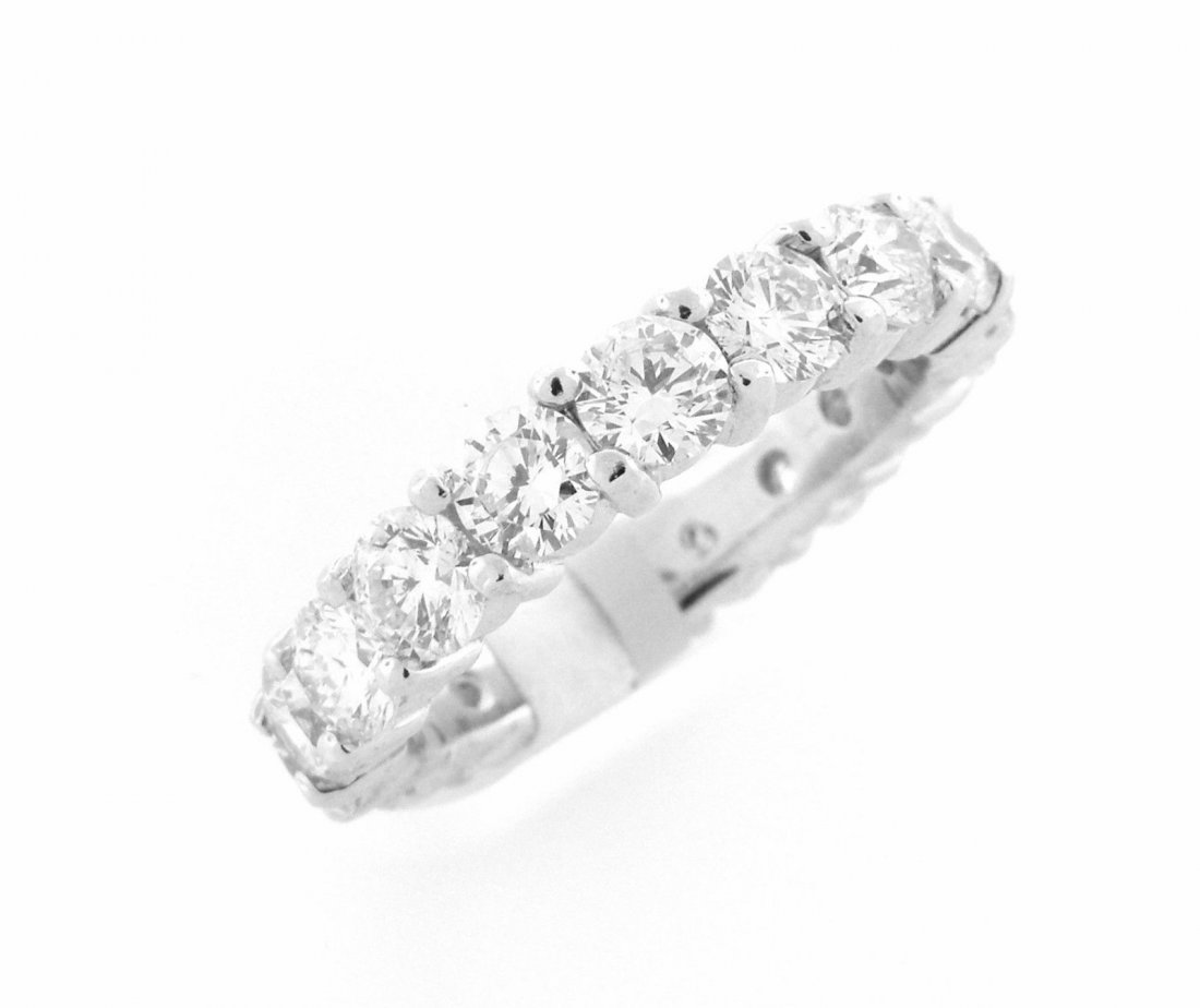 NEW 4.00ct 14K WHITE GOLD DIAMOND ETERNITY WEDDING BAND