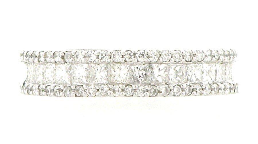 NEW 18K WHITE GOLD DIAMOND ETERNITY WEDDING BAND 2CT