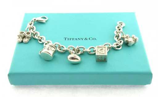 Sterling Silver Baby 5 Charm Bracelet
