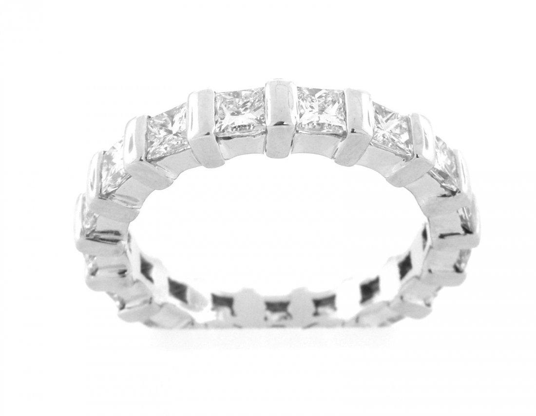 NEW 2.00ct PLATINUM PRINCESS CUT DIAMOND ETERNITY RING