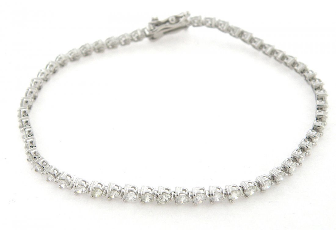 NEW 3ct 14K WHITE GOLD DIAMOND TENNIS LINE BRACELET