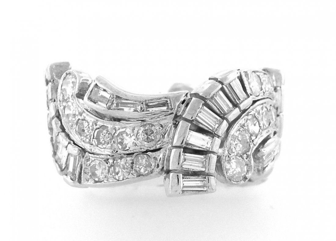 VINTAGE FULL ETERNITY BAGUETTE & ROUND DIAMOND BAND 3CT