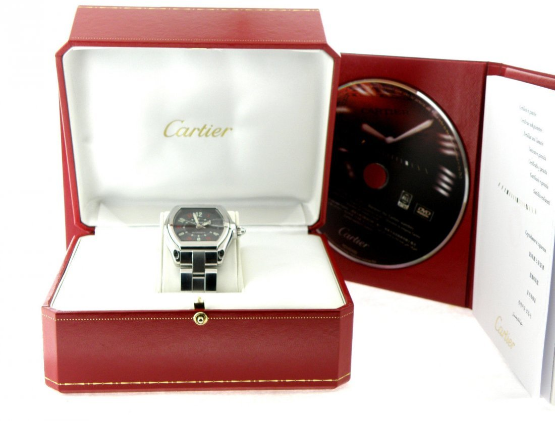 CARTIER ROADSTER LARGE MENS AUTOMATIC STEEL WATCH