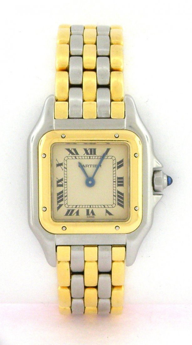CARTIER PANTHERE LADIES 18K GOLD WATCH