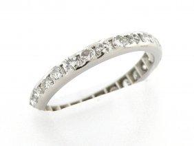 New 1.00ct Platinum Diamond Eternity Wedding Band Ring