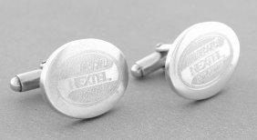 Tiffany & Co. S/ Silver Nextel Nascar Oval Cufflinks