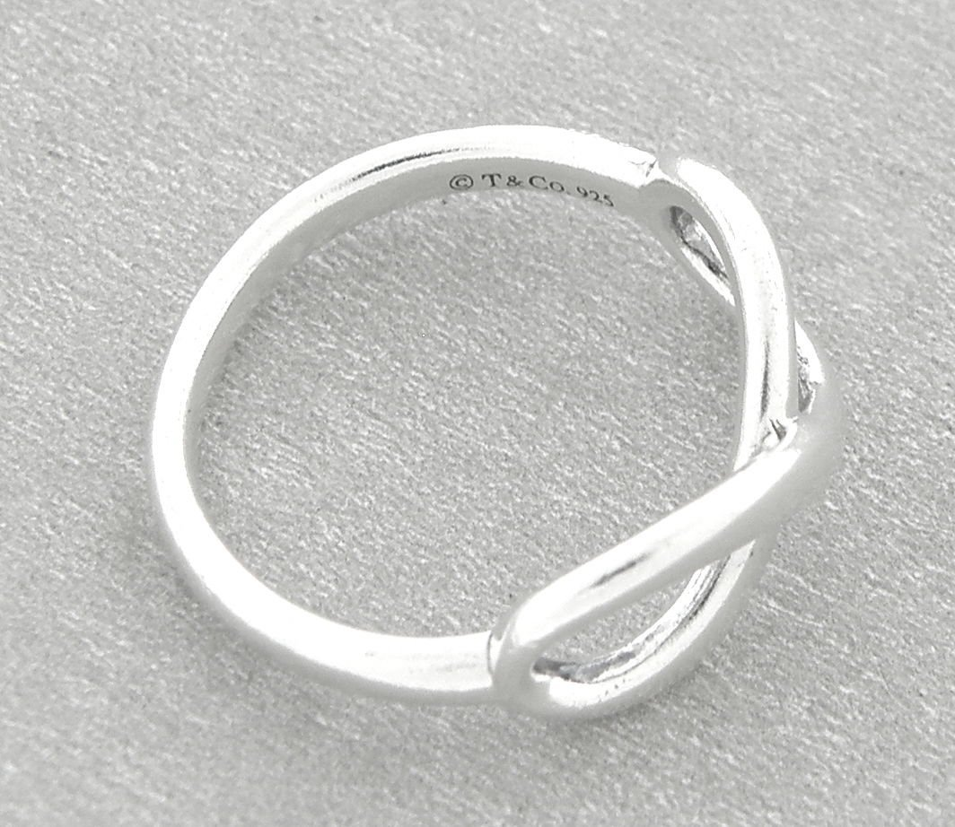 TIFFANY & Co. STERLING SILVER INFINITY RING - 2