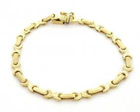 New 14k Yellow Gold Ladies Girls Bracelet Italy
