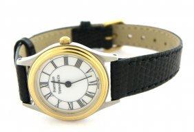 Authentic Tiffany & Co. Two Tone Portfolio Ladies Watch