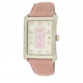 Swiss Diamond Bianci Watch With Genuine Alligator Strap