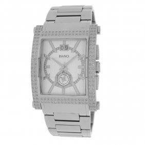 Diamond Watch Two-time Zone Roberto Bianci Diamond