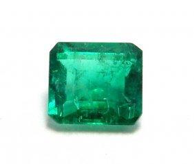 0.25ct Natural Colombian Green Emerald Emerald Cut