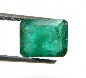 1.34ct Natural Colombian Green Emerald Emerald Cut