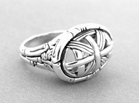 Authentic John Hardy Sterling Silver Ring