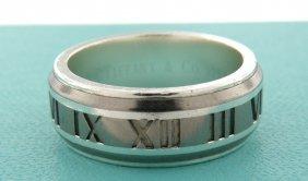 Tiffany & Co. Sterling Silver Titanium Ring