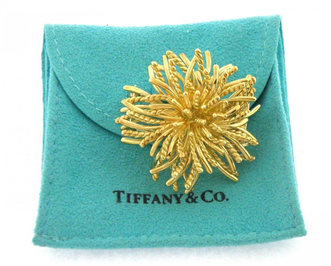 TIFFANY & Co. 18K GOLD URCHIN BROOCH PIN PENDANT HEAVY