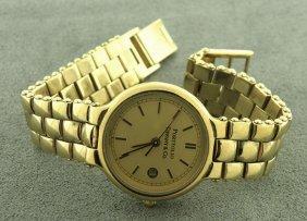 Tiffany & Co. Gold Tone Portfolio Ladies Watch