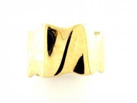Vintage 14k Yellow Gold Wide Wedding Band Ring Unisex