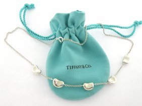 Tiffany & Co. Silver Elsa Peretti 5 Bean Necklace