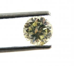 0.41ct Loose Natural Untreated Round Yellow Diamond Si3