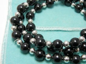 Tiffany & Co. Sterling Silver Onyx Necklace