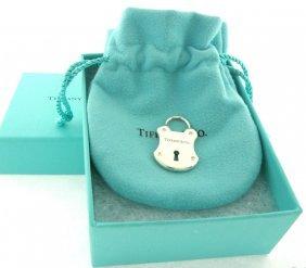 Tiffany & Co. Sterling Diamond Padlock Lock Pendant