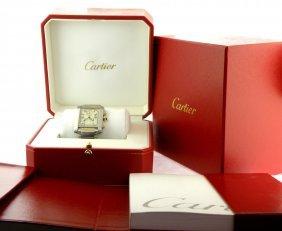 Cartier Tank 18k Steel Men's Chronoflex Watch