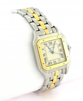 Cartier Panthere Midsize Unisex 18k Gold Steel Watch