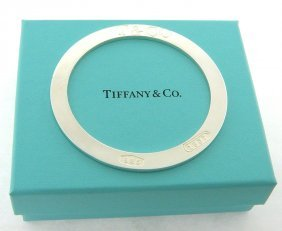 Tiffany & Co. Sterling Silver 1837 Round Flat Bangle