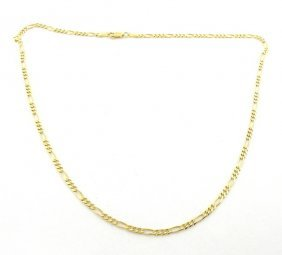 """New 14k Yellow Gold Figaro Solid Chain Necklace 2mm 22"""""""