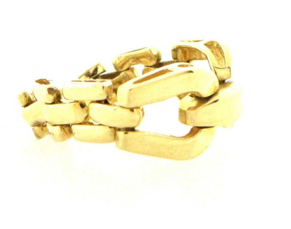 VINTAGE 14K YELLOW GOLD LADIES FLEXIBLE BUCKLE RING