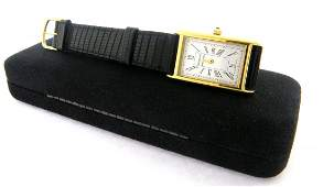 TIFFANY  Co GOLD PLATED PORTFOLIO MENS WATCH