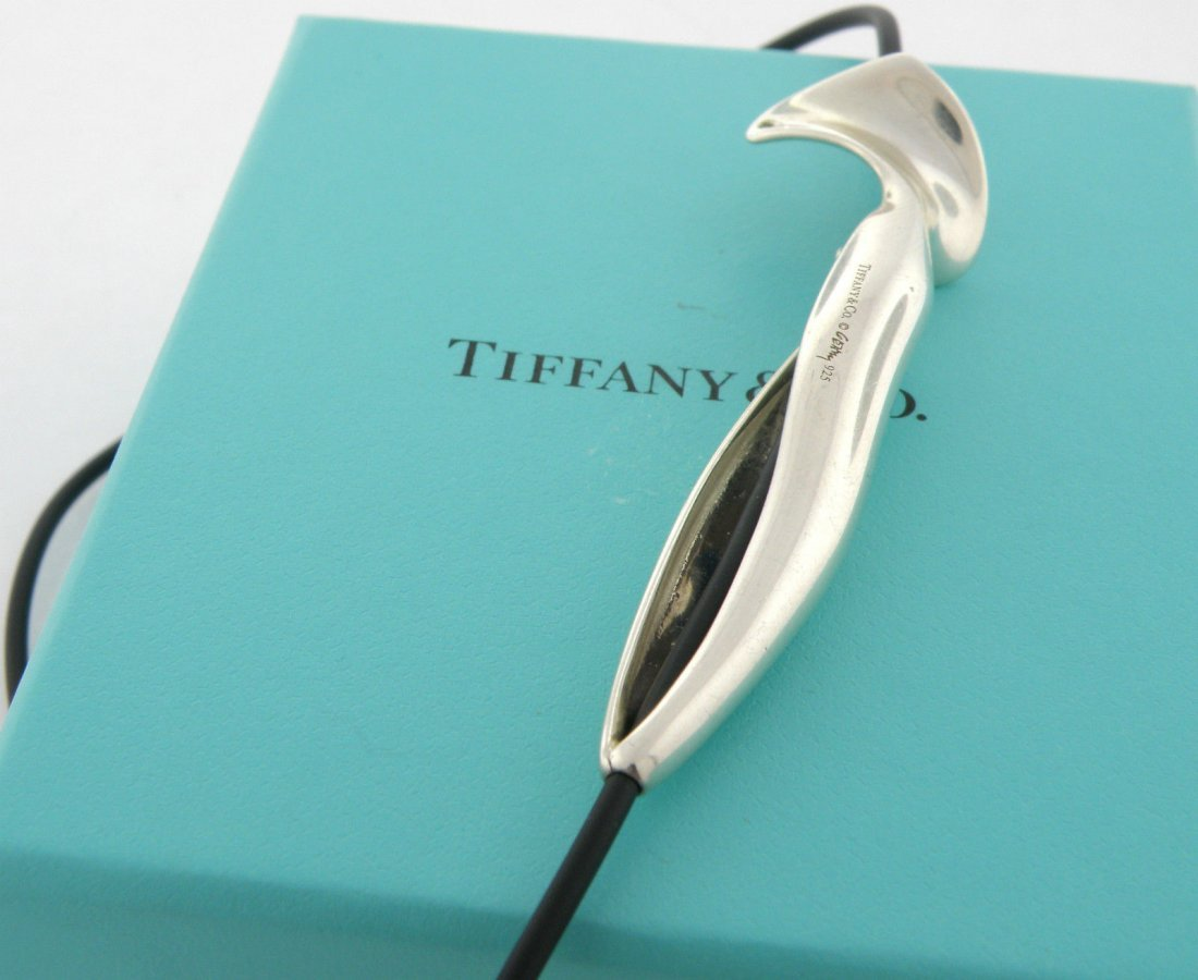 TIFFANY & Co. STERLING FRANK GEHRY ORCHID CORD NECKLACE