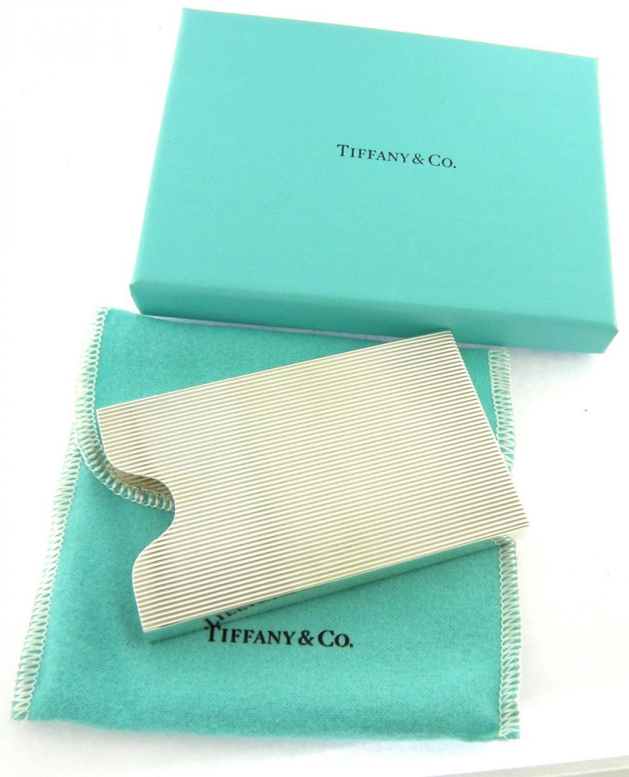 NEW TIFFANY & Co. STERLING SILVER BUSINESS CARD HOLDER