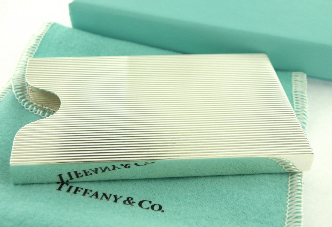 NEW TIFFANY & Co. STERLING SILVER BUSINESS CARD HOLDER - 2