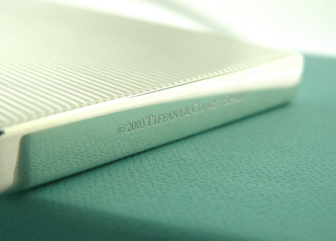 NEW TIFFANY & Co. STERLING SILVER BUSINESS CARD HOLDER - 3