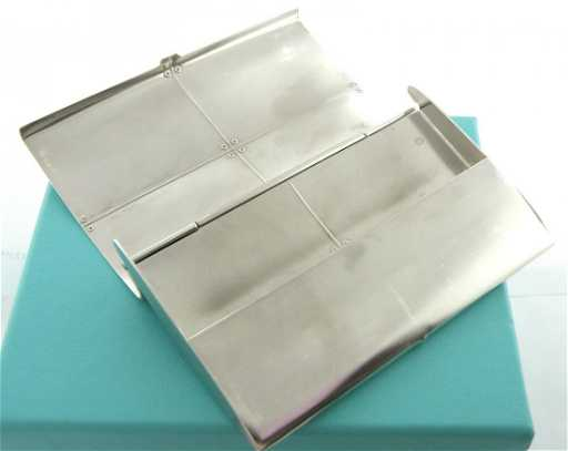 Tiffany co silver streamerica business card holder colourmoves Images