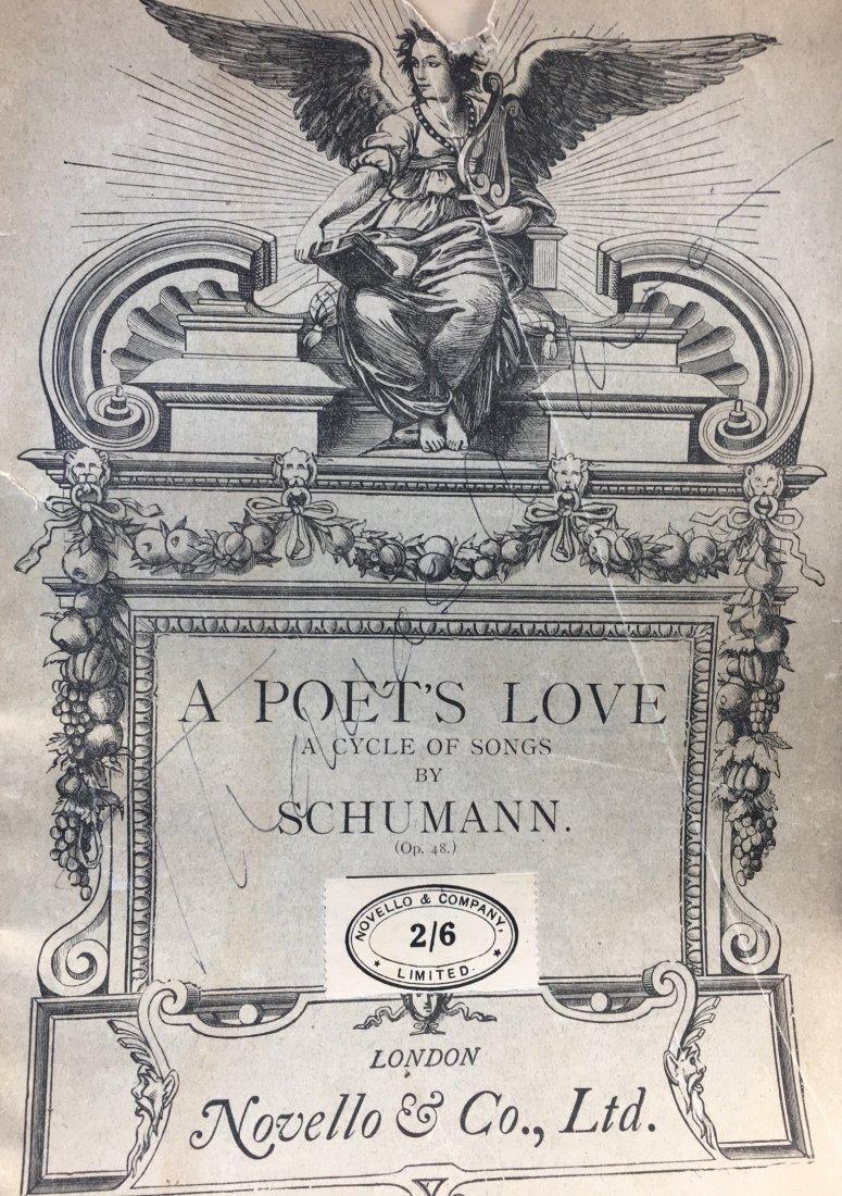 """L/E 2/6 RSchumann """"A Poet's Love"""" p. Signed by CS"""