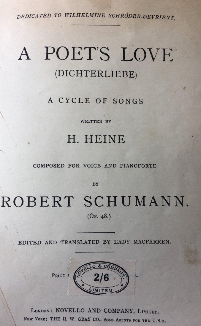 """L/E 2/6 RSchumann """"A Poet's Love"""" p. Signed by CS - 2"""
