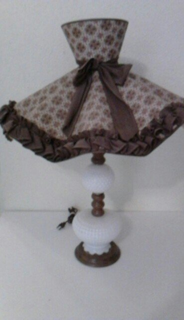 Rare Samson  Antique  Porcelain Beaded Lamp